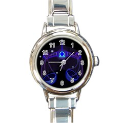 Sign Libra Zodiac Round Italian Charm Watch