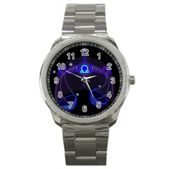 Sign Libra Zodiac Sport Metal Watch by Mariart