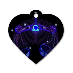 Sign Libra Zodiac Dog Tag Heart (one Side) by Mariart