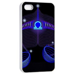 Sign Libra Zodiac Apple Iphone 4/4s Seamless Case (white) by Mariart