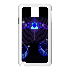Sign Libra Zodiac Samsung Galaxy Note 3 N9005 Case (white) by Mariart