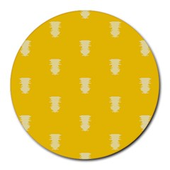 Waveform Disco Wahlin Retina White Yellow Vertical Round Mousepads by Mariart