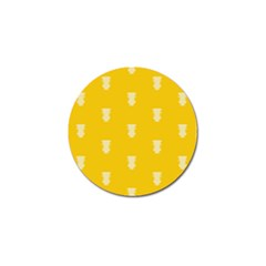 Waveform Disco Wahlin Retina White Yellow Vertical Golf Ball Marker (4 Pack) by Mariart