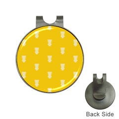 Waveform Disco Wahlin Retina White Yellow Vertical Hat Clips With Golf Markers by Mariart