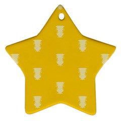 Waveform Disco Wahlin Retina White Yellow Vertical Star Ornament (two Sides) by Mariart