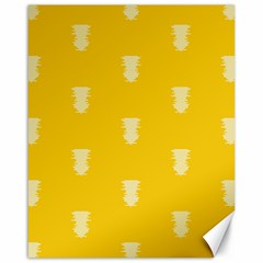 Waveform Disco Wahlin Retina White Yellow Vertical Canvas 16  X 20   by Mariart