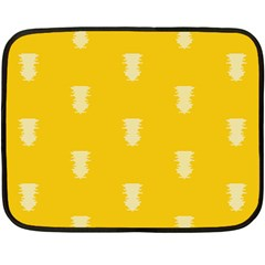 Waveform Disco Wahlin Retina White Yellow Vertical Double Sided Fleece Blanket (mini)  by Mariart