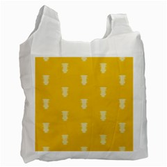 Waveform Disco Wahlin Retina White Yellow Vertical Recycle Bag (two Side)  by Mariart