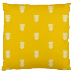 Waveform Disco Wahlin Retina White Yellow Vertical Large Cushion Case (one Side) by Mariart
