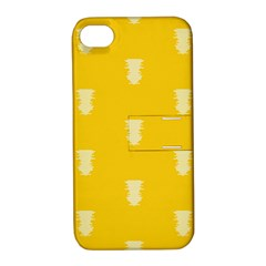 Waveform Disco Wahlin Retina White Yellow Vertical Apple Iphone 4/4s Hardshell Case With Stand by Mariart