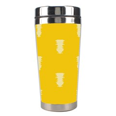 Waveform Disco Wahlin Retina White Yellow Vertical Stainless Steel Travel Tumblers by Mariart