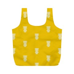 Waveform Disco Wahlin Retina White Yellow Vertical Full Print Recycle Bags (m)  by Mariart