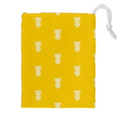 Waveform Disco Wahlin Retina White Yellow Vertical Drawstring Pouches (xxl) by Mariart