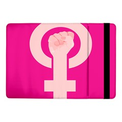 Women Safety Feminist Nail Strong Pink Circle Polka Samsung Galaxy Tab Pro 10 1  Flip Case by Mariart