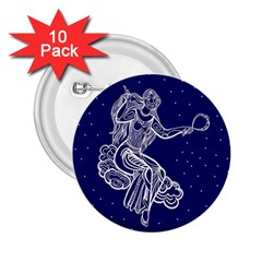 Virgo Zodiac Star 2 25  Buttons (10 Pack)