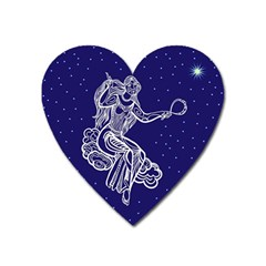 Virgo Zodiac Star Heart Magnet by Mariart