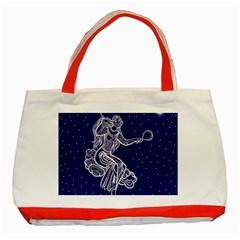 Virgo Zodiac Star Classic Tote Bag (red)