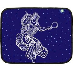 Virgo Zodiac Star Double Sided Fleece Blanket (mini)  by Mariart