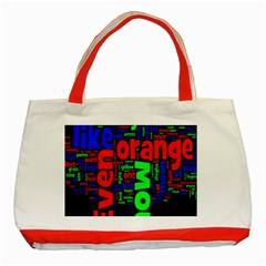 Writing Color Rainbow Classic Tote Bag (red)