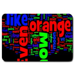 Writing Color Rainbow Large Doormat
