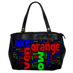 Writing Color Rainbow Office Handbags by Mariart