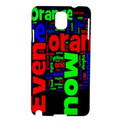 Writing Color Rainbow Samsung Galaxy Note 3 N9005 Hardshell Case by Mariart