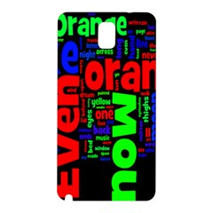 Writing Color Rainbow Samsung Galaxy Note 3 N9005 Hardshell Back Case by Mariart