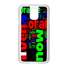 Writing Color Rainbow Samsung Galaxy S5 Case (white) by Mariart