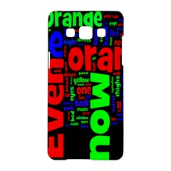 Writing Color Rainbow Samsung Galaxy A5 Hardshell Case  by Mariart