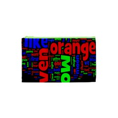 Writing Color Rainbow Cosmetic Bag (xs)