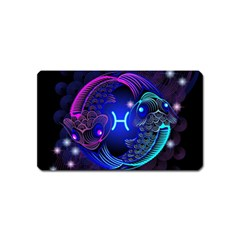 Sign Pisces Zodiac Magnet (name Card) by Mariart