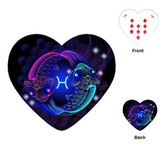 Sign Pisces Zodiac Playing Cards (heart)