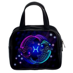 Sign Pisces Zodiac Classic Handbags (2 Sides) by Mariart