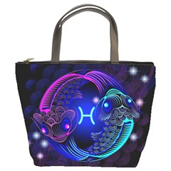 Sign Pisces Zodiac Bucket Bags by Mariart