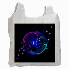 Sign Pisces Zodiac Recycle Bag (one Side) by Mariart