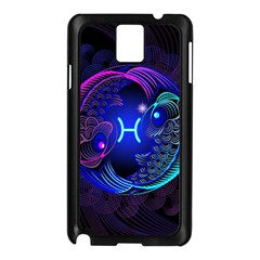 Sign Pisces Zodiac Samsung Galaxy Note 3 N9005 Case (black) by Mariart
