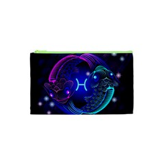 Sign Pisces Zodiac Cosmetic Bag (xs) by Mariart