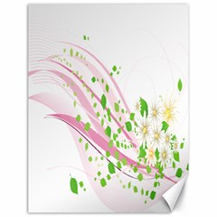 Sunflower Flower Floral Leaf Line Wave Chevron Pink Canvas 18  X 24   by Mariart