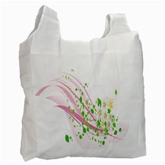Sunflower Flower Floral Leaf Line Wave Chevron Pink Recycle Bag (one Side) by Mariart