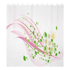 Sunflower Flower Floral Leaf Line Wave Chevron Pink Shower Curtain 66  X 72  (large)  by Mariart
