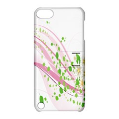 Sunflower Flower Floral Leaf Line Wave Chevron Pink Apple Ipod Touch 5 Hardshell Case With Stand by Mariart