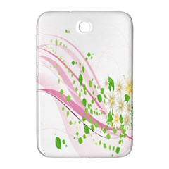 Sunflower Flower Floral Leaf Line Wave Chevron Pink Samsung Galaxy Note 8 0 N5100 Hardshell Case  by Mariart