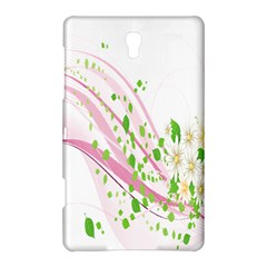Sunflower Flower Floral Leaf Line Wave Chevron Pink Samsung Galaxy Tab S (8 4 ) Hardshell Case  by Mariart
