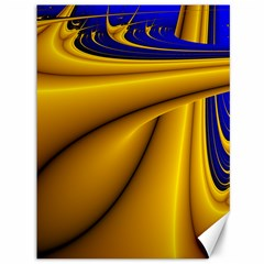 Waves Wave Chevron Gold Blue Paint Space Sky Canvas 36  X 48   by Mariart