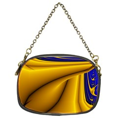 Waves Wave Chevron Gold Blue Paint Space Sky Chain Purses (one Side)  by Mariart