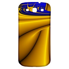 Waves Wave Chevron Gold Blue Paint Space Sky Samsung Galaxy S3 S Iii Classic Hardshell Back Case by Mariart