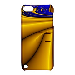 Waves Wave Chevron Gold Blue Paint Space Sky Apple Ipod Touch 5 Hardshell Case With Stand by Mariart