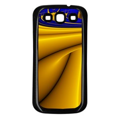 Waves Wave Chevron Gold Blue Paint Space Sky Samsung Galaxy S3 Back Case (black) by Mariart