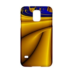 Waves Wave Chevron Gold Blue Paint Space Sky Samsung Galaxy S5 Hardshell Case  by Mariart