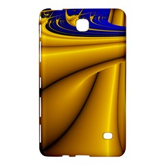 Waves Wave Chevron Gold Blue Paint Space Sky Samsung Galaxy Tab 4 (8 ) Hardshell Case  by Mariart